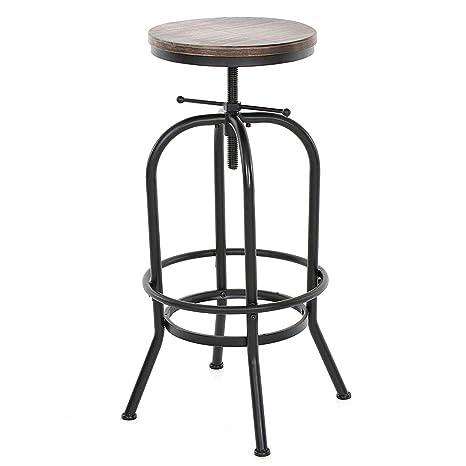 Phenomenal Amazon Com Ge Store Bar Stool Industrial Style Height Bralicious Painted Fabric Chair Ideas Braliciousco