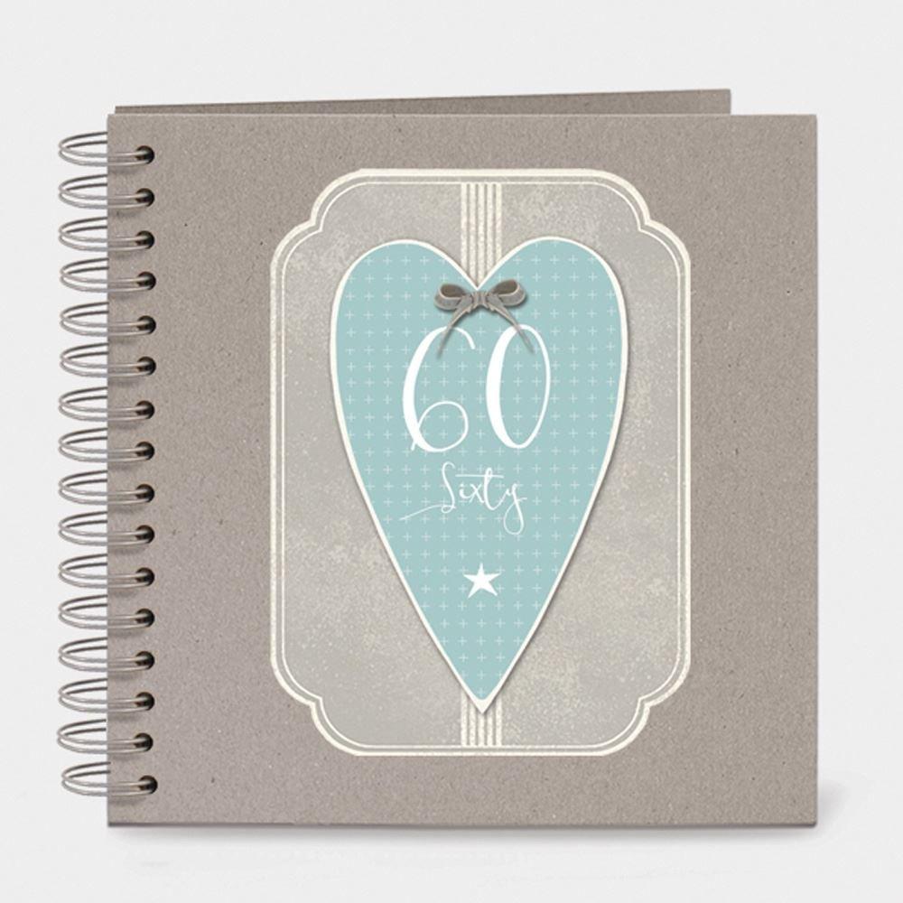 East of India Italic Heart Keepsake Memory Book 60 Birthday Sixty