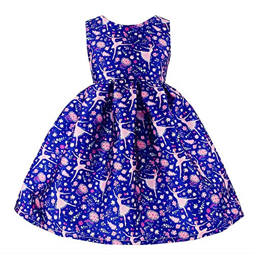 European Style Summer Girl Dress Sleeveless Floral Child Ball Gown Kids Dresses for Girls Wedding Dress 2-10Y,Purple Ballet,9