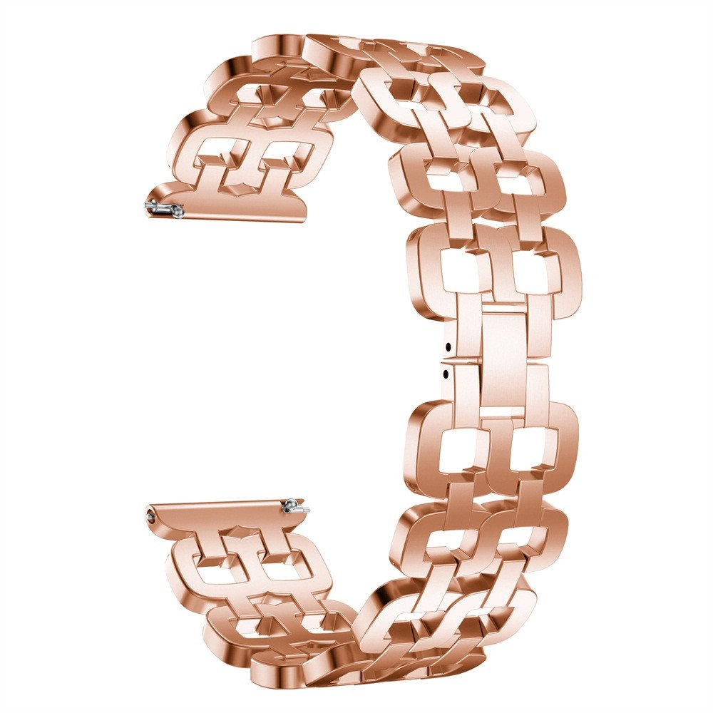 Cywulin Stainless Steel Band for Amazfit Stratos 2 and 2S, 22mm Metal Replacement Smartwatch Bracelet Wristband Strap Loop Accessories for Xiaomi Huami Amazfit Bip BIT PACE Samsung Gear S3 (Rose Gold)