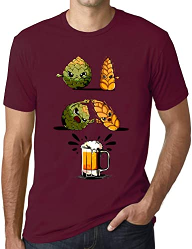 Ultrabasic® Hombre Camiseta Gráfico Cerveza de Fusión Diseño de Letras Impresas