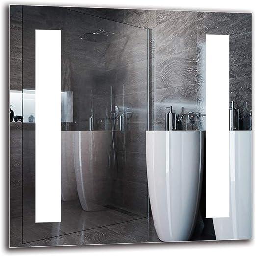 Dimensiones del Espejo 40x40 cm Blanco c/álido 3000K Espejo con iluminaci/ón ARTTOR M1CP-37-40x40 Espejo de luz Espejo de ba/ño con iluminaci/ón LED Espejo de Pared Espejo LED Premium
