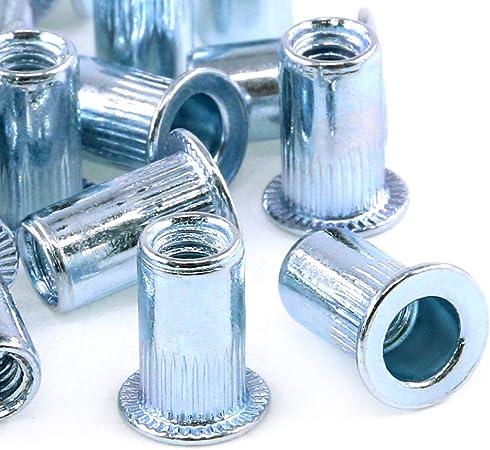 30 Pcs M5 Thread Blue white zinc Rivet Nut Insert Nutsert WL