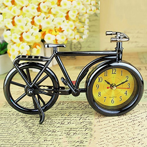 Bicycle Shape Alarm Clock Trendy Cool Style Clock Fashion Personality (black) (Alarm Clock Purse)