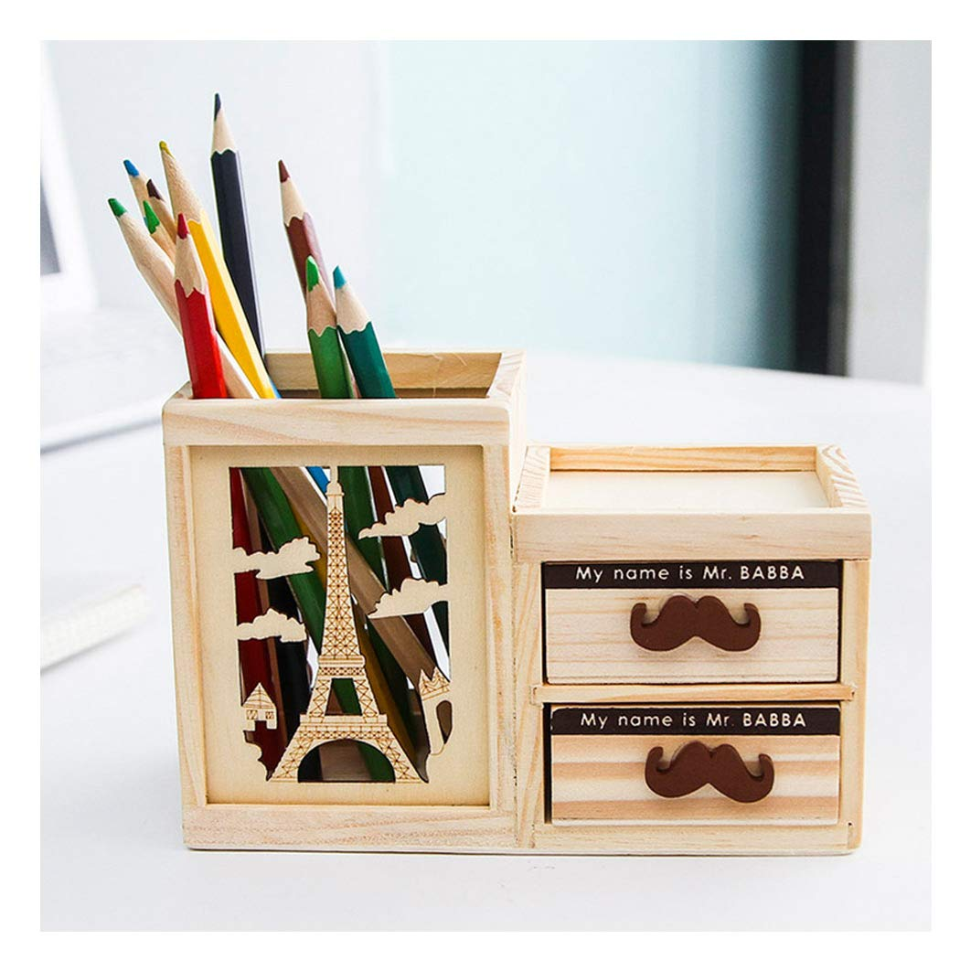 Sipliv Creative lápiz titular de madera escritorio lápiz ...
