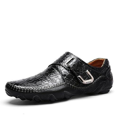 97f7424a5f6 Otoño E Invierno Hombres Cuero Calzado Casual Transpirable Calzado De Hombre  Moda Calzado Deportivo  Amazon.es  Zapatos y complementos