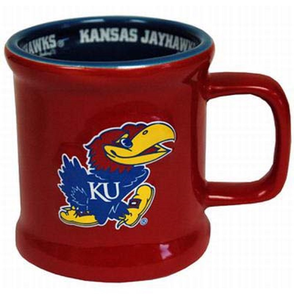 Jenkins Enterprises Kansas Jayhawks Ceramic Relief Mug