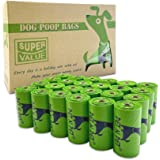 PET N PET Poop Bags 24 Rolls/360 Bags Dog Waste Bags Unscented Leak-Proof Easy Tear-Off