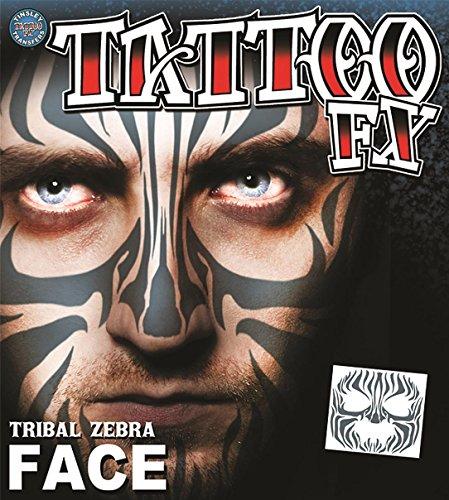 Tinsley Transfers  Tribal Zebra, Flesh/Multi, One Size -