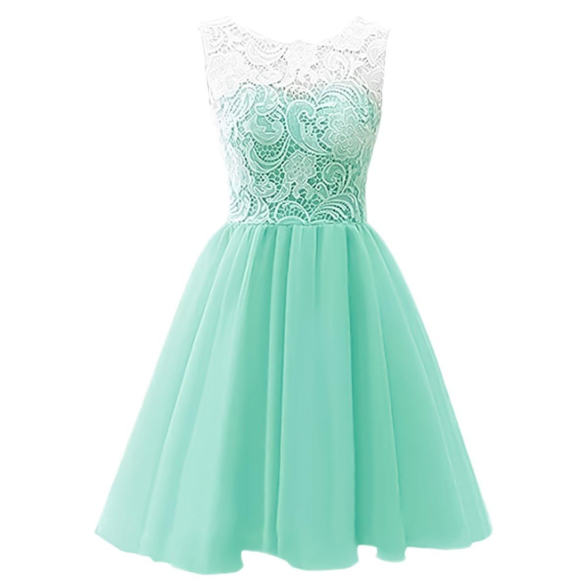 Amazon.com: IBTOM CASTLE Kids Girls Short Lace Party Dresses Flower ...