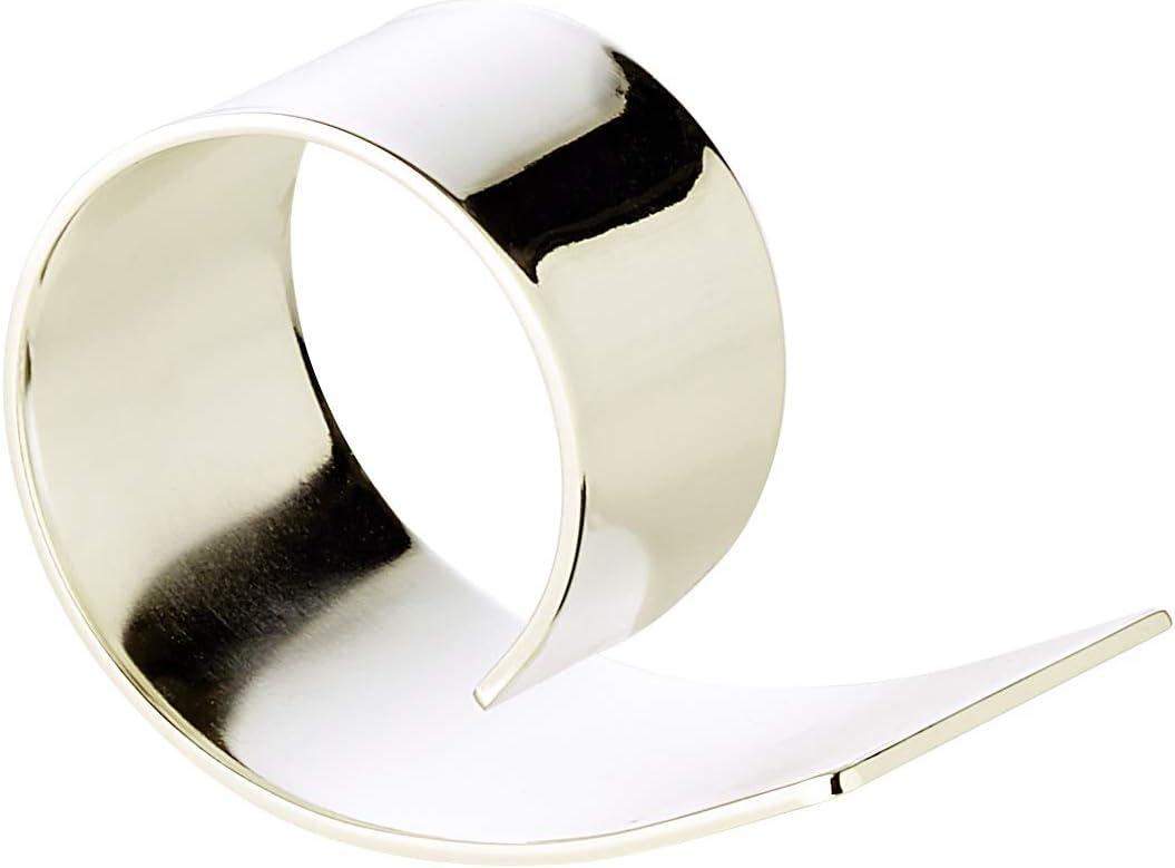 /Ø 3,5 cm Premiumqualit/ät versilbert und anlaufgesch/ützt als Tischdekoration geschwungene Serviettenhalter in Silber inkl LORENA LIVING 4X Serviettenring PIA Geschenkverpackung