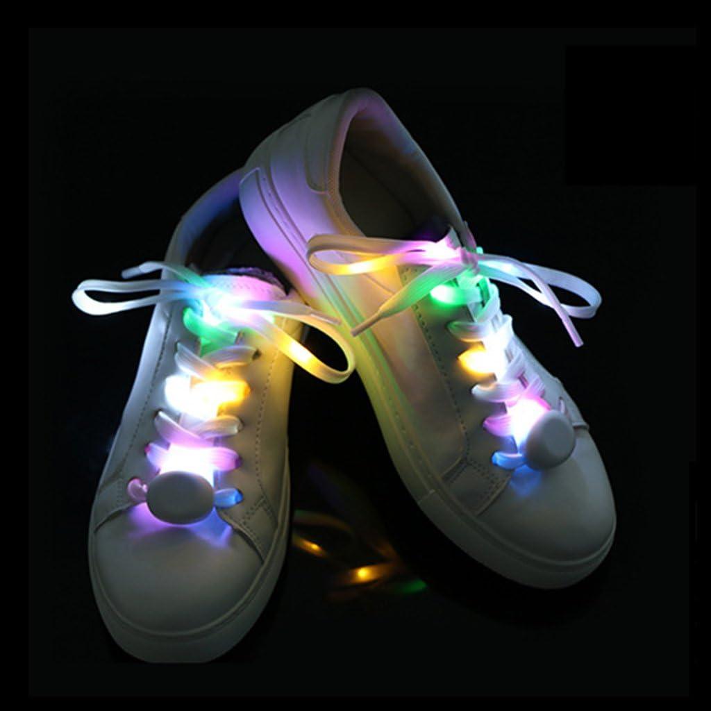 DoGeek Lacets LED Lacets Lumi/ère Nylon Flash Lumineux Lacets pour Basket led Chaussures-Parfait pour Favor Festivals anniversaire Disco Clubs Danse Jeu Night Running Cycling