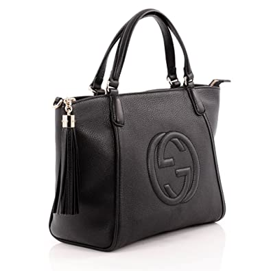 2ba5181690d Amazon.com  Gucci Soho Leather Top Handle Bag Zip Gold Leather Shoulder  Italy Handbag New  Shoes