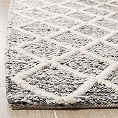 Safavieh Natural Fiber Collection NF114A Basketweave Natural Beige Seagrass Area Rug (5' x 8') - Construction Power Loomed Fiber/Finish Seagrass Backing Power Loomed Rugs Do Not Use Backing Material On The Underside Of The Rug. A Thin Coat Of Latex Is Applied To The Underside Of The Rug To Secure The Yarns Firmly In Place. This Latex Coat Is Virtually Invisible And Is Not Considered Backing Material. - living-room-soft-furnishings, living-room, area-rugs - 61CNhYZlT L. SS400  -