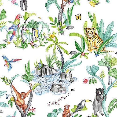 Arthouse, Jungle Mania Wallpaper, Multi Colored ()
