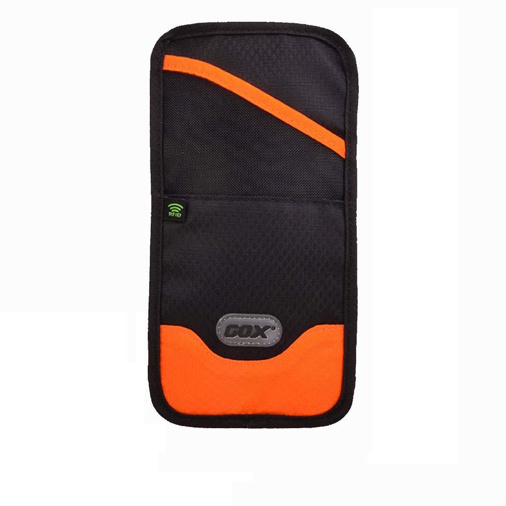 Passport Pouch Small /& Orange RFID Blocking /& Waterproof Multi-Function Portable Neck Pouch Passport Wallet Document Organizer Card Holder Cash Money Pocket Travel Wallet