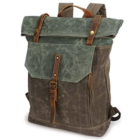 Image Unavailable. Image not available for. Color  Waxed Canvas Backpack  Waterproof ... 6d5103b352