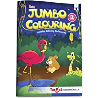 Blossom Jumbo Creative Colouring Book for Kids   5 to 7 years old   Best Gift to Children for Drawing, Coloring and Painting with Colour Reference Guide   A3 Size   Level 2