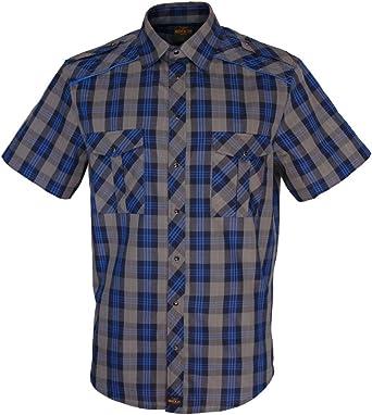 ROCK-IT Apparel® Camisa Casual de Cuadros para Hombre 100% algodón Hecho en Europa Tallas S-5XL Color Azul/Gris: Amazon.es: Ropa y accesorios