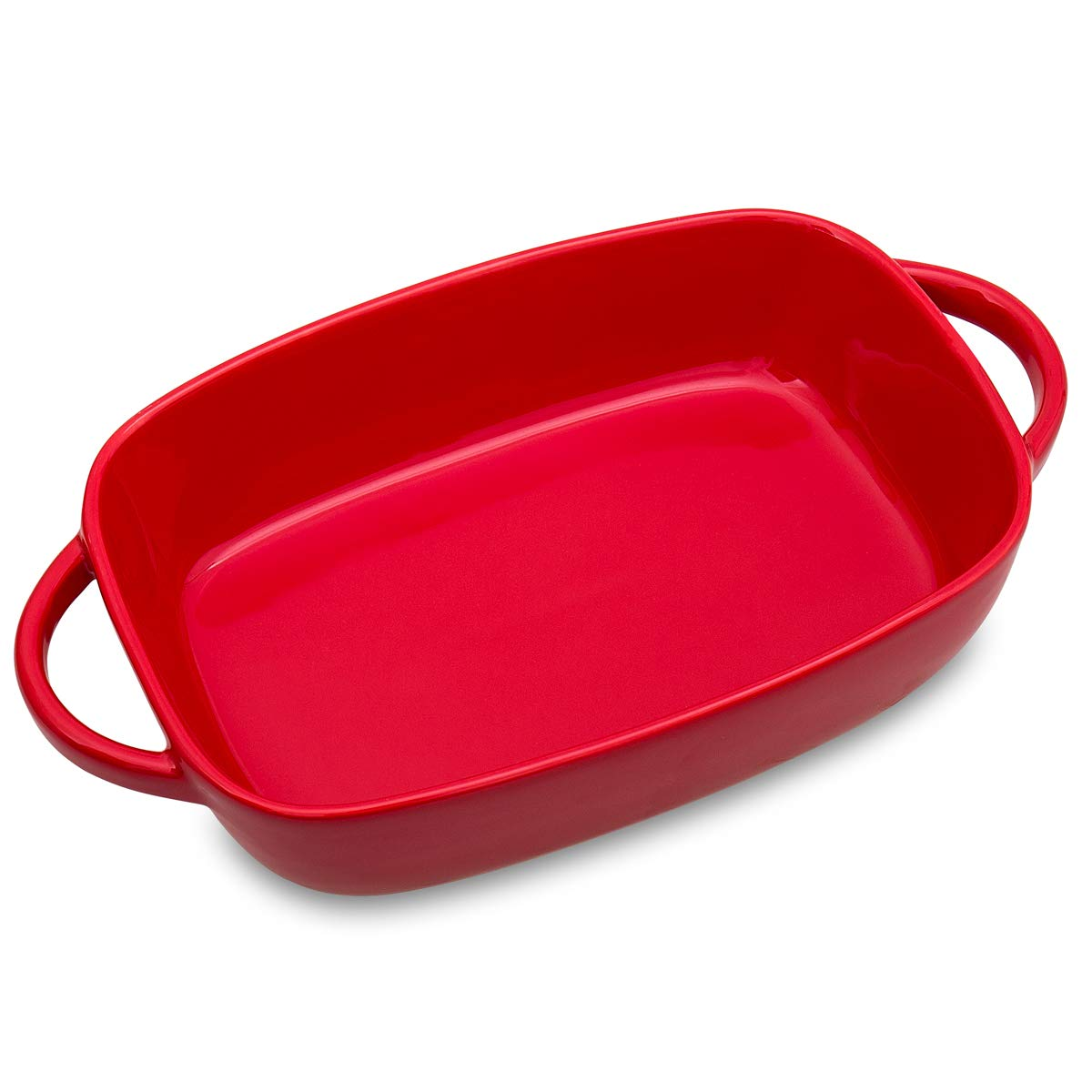 13inch Oval Baking Dish for Oven Casserole Dish Lasagna Pan Large Ceramic Bakeware with Handle