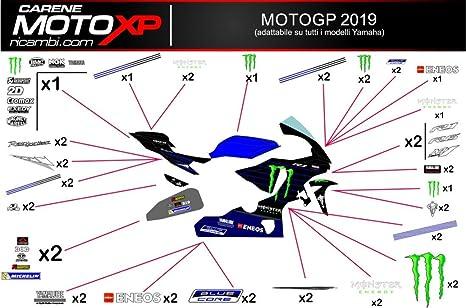 Pegatinas Adhesivos Motos Racing Yamaha R1 2015 2016 2017 2018 MT19: Amazon.es: Coche y moto