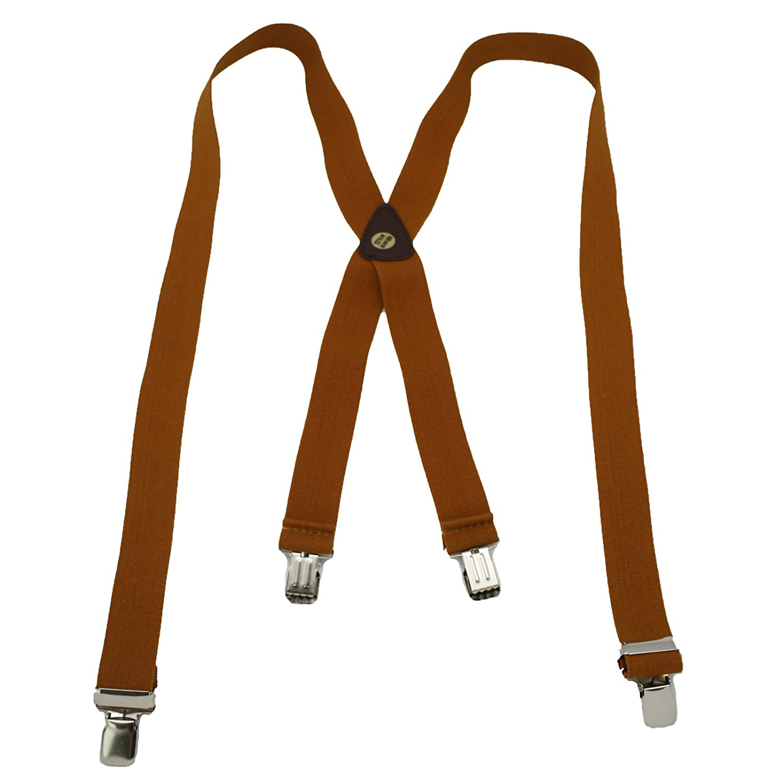 Largemouth Men's X-Back Suspenders Brown