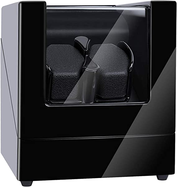 Kalawen Doulble Watch Winder for 2 Automatic Watches with 5 Rotation Mode Setting