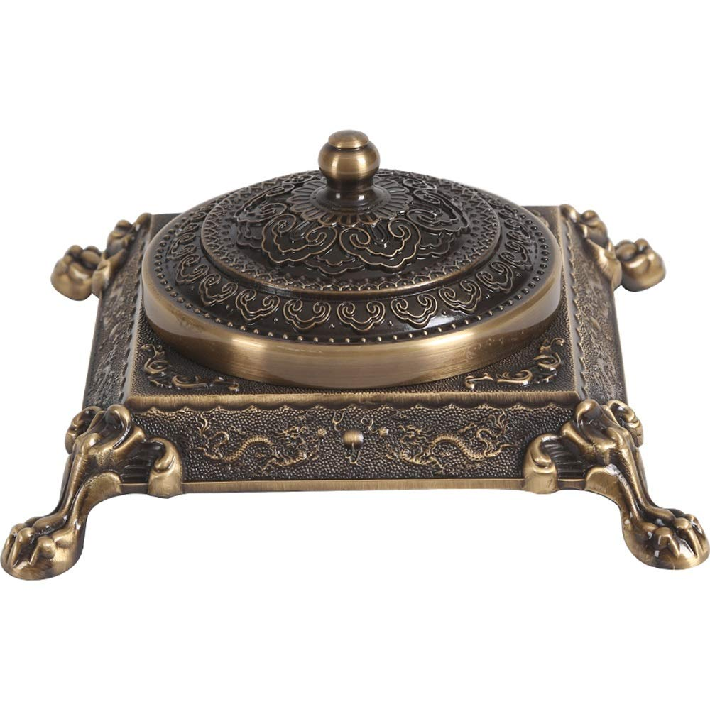 AO Creative Copper Ashtray Decoration Home Decoration Living Room Office Household Ashtray Gift 19.5X9.5X12cm