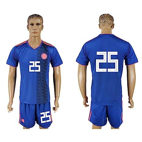 ad860c73c Mu Dou Zhi Neng 2018 World Cup Columbia Football Team  25 Adult Away Blue  Soccer
