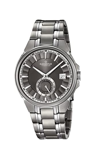 Candino Reloj Análogo clásico para Hombre de Cuarzo con Correa en Titanio  C4604 1  Amazon.es  Relojes 76f9ae350a7
