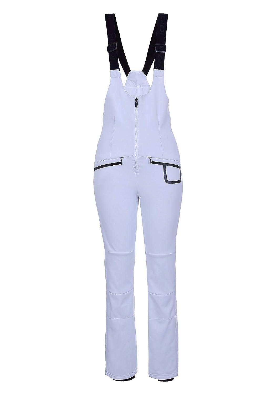 ICEPEAK Exira Color Blanco Ajustado Pantal/ón de Softshell con Tirantes