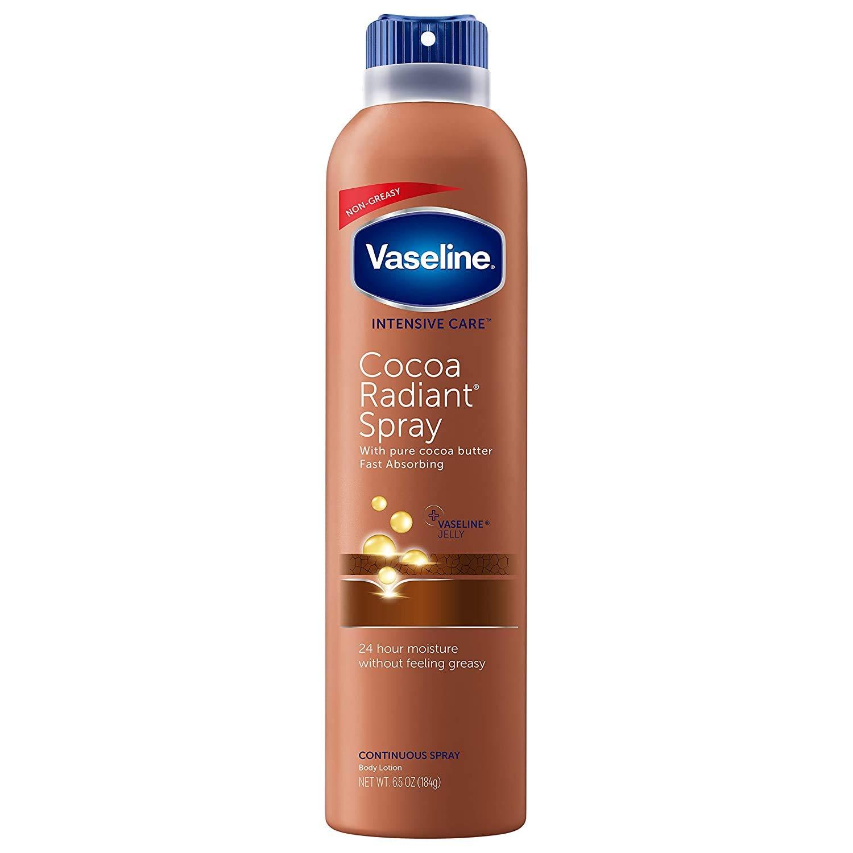 Vaseline (6 Pack) 6.4oz Bottle Body Spray Lotion Moisturizer For Dry Skin Gift Set For Men Women
