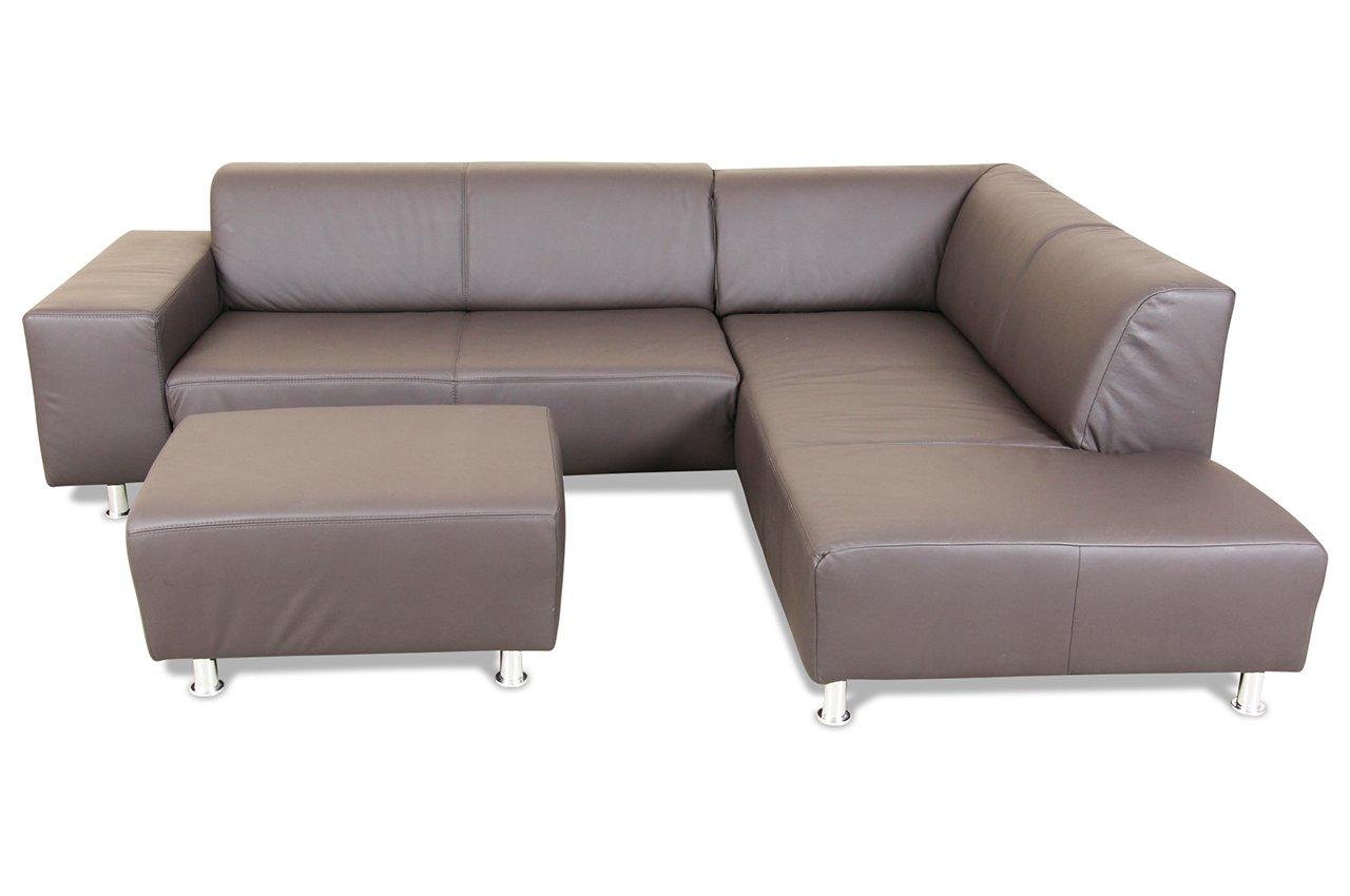 Sofa ADA Alina Megaecke 7056 - Echt-Leder Braun