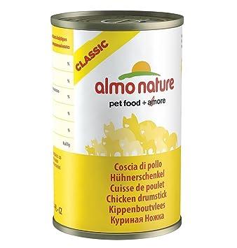 almo Nature de pollo 140 g gato Forro, 24 unidades): Amazon.es: Productos para mascotas