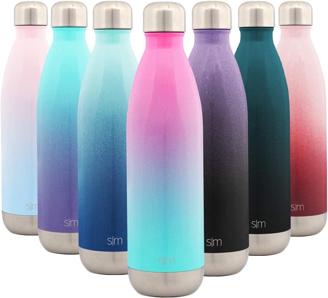 Simple Modern Wave 750ml Termo Botella de Agua Acero Inoxidable, Botella termica sin BPA Mantiene el Temperatura Aislada al Vacío Doble Pared para Deporte café o viaje Dos Tonos: Sorbete