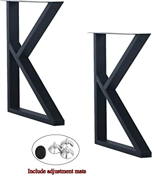 Weven Industrial Modern 2 Pcs 28 Hight 17 7 Wide K Type Legs