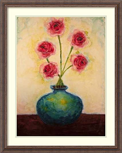 Amazon Framed Art Print Big Blue Vase By Marabeth Quin