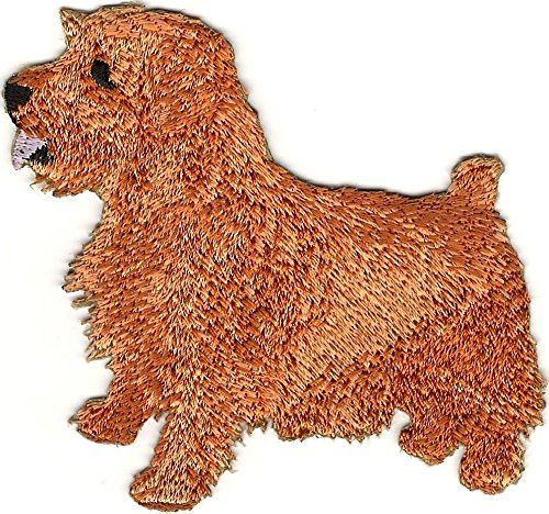 3'' x 3 1/4'' inches Red Tan Norfolk Terrier Dog Breed Embroidery Patch