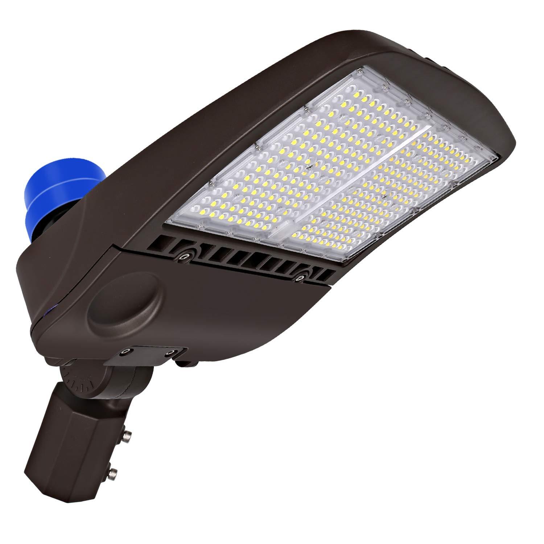 Hykolity 200W LED Parking Lot Lights, 26000lm Dusk to Dawn Commercial LED Area Lighting, Waterproof Pole Mounted Shoebox Light, 5000K [400w Equivalent] Slip Fitter DLC Complied