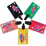Zacro Lot de 5 Etiquettes bagages PVC de Voyage pour Sac ou Valise, Étiquette de Valise, Idéal en Avion, Train, Bus ou Voiture