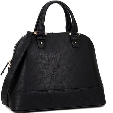 Dasein Zip Around Structured Domed Satchel Handbag Purse, Tablet ...