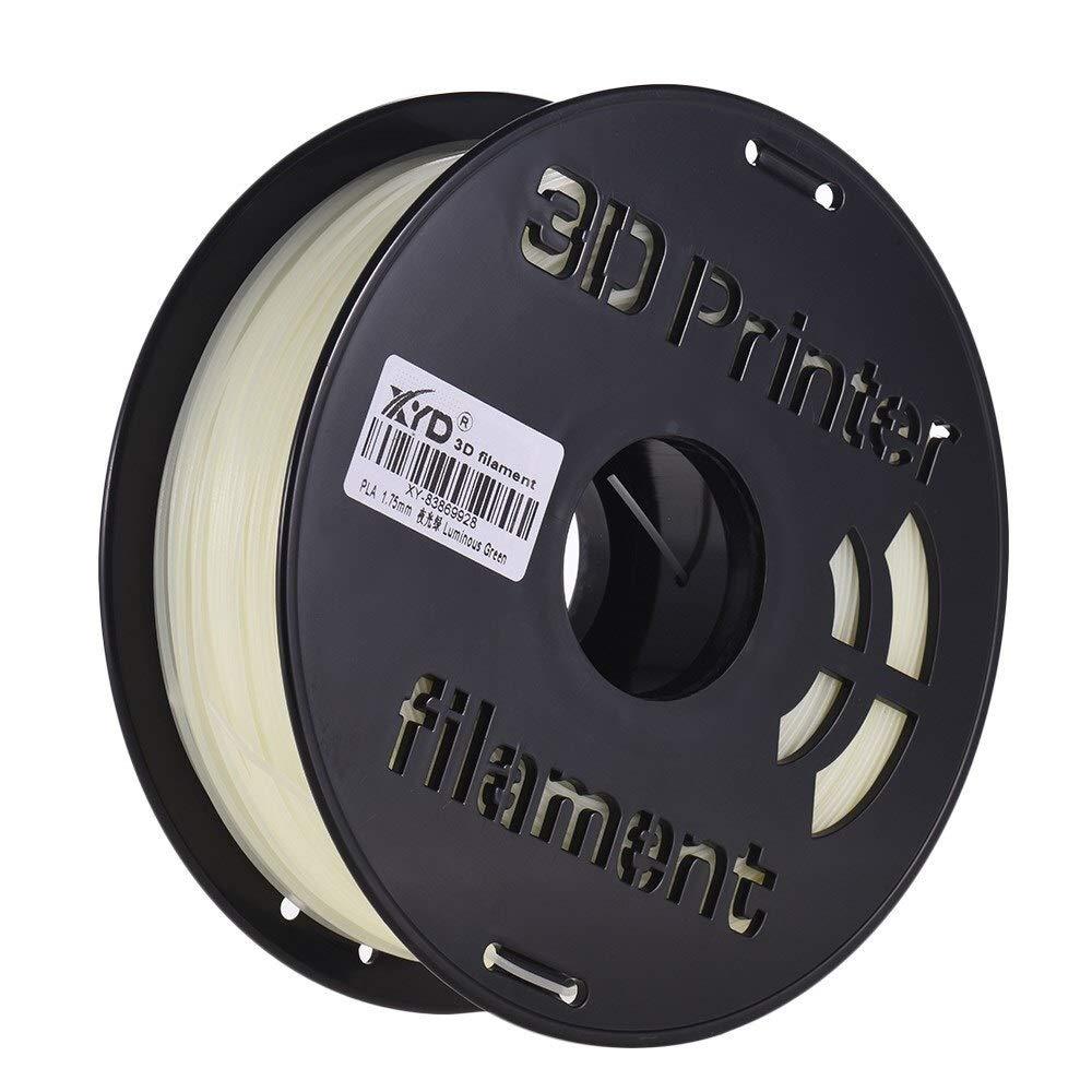 Farbe : GR Sie Werden Nicht enttäuscht Sein Haikellos 1 kg/Spule leuchtendes PLA-Filament 1,75 mm Durchmesser im Dunkeln leuchtendes Druckmaterial for 3D-Drucker Wählen Sie Uns