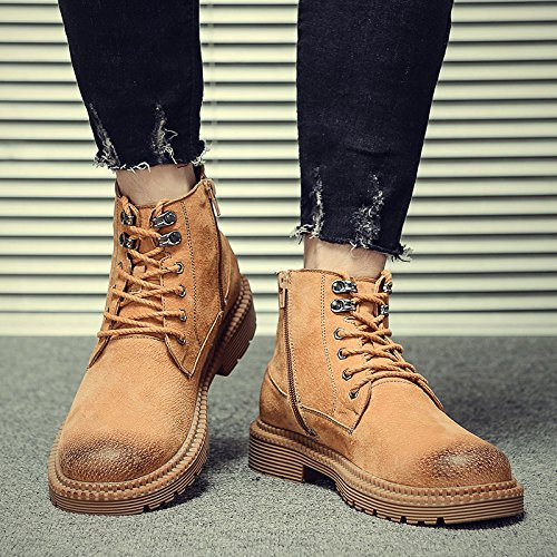 HL-PYL-Martin Stiefel hohe Stiefel Stiefel Fell Stiefel Schuhe 44 gelb