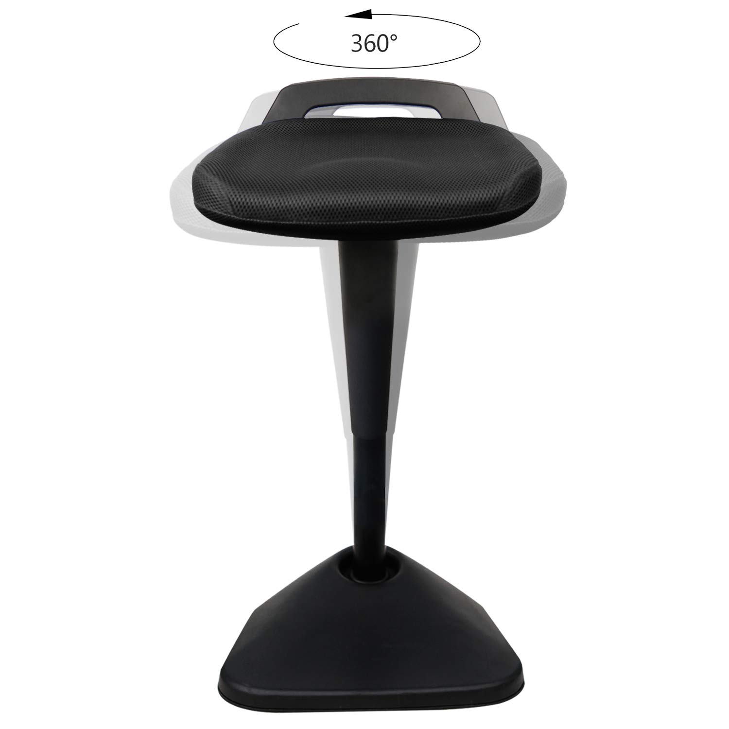 AIMEZO Sit Stand Desk Stool - 360° Swivel Seat Standing Desk Chair with Adjustable Height Active Sitting Balance Chair by AIMEZO (Image #5)