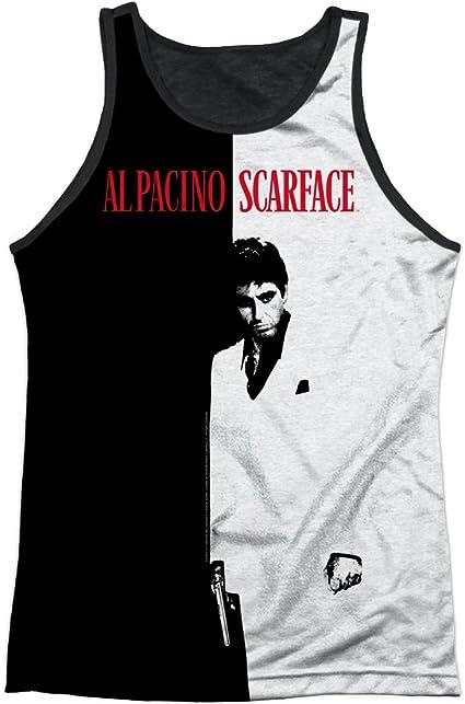 Scarface póster Grande Mens Tank Top Camiseta con Dorso Negro (Blanco, pequeño): Amazon.es: Ropa y accesorios