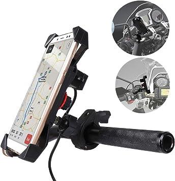 Amazon.com: KEMIMOTO Soporte de teléfono para motocicleta ...
