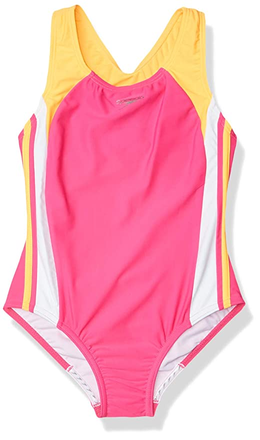 SPEEDO Girl/'s Performance Racer Back Swim Swimsuit Bathing Tankini Suit 6X NEW