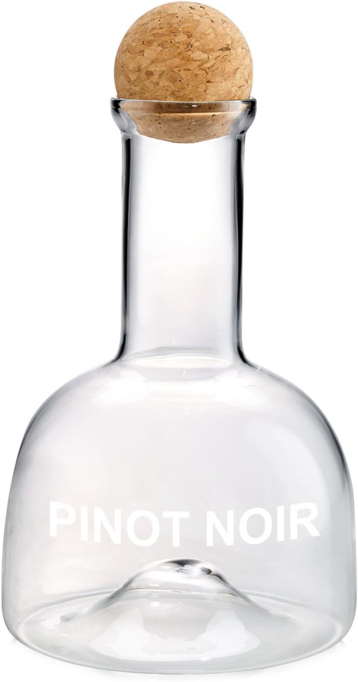 Artland Glass 40 Ounce Pinot Noir Wine Decanter with Cork Ball Stopper