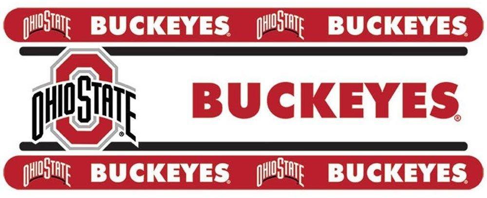 NCAA Ohio State Wall Border Roll - Buckeyes Football Peel-n-Stick