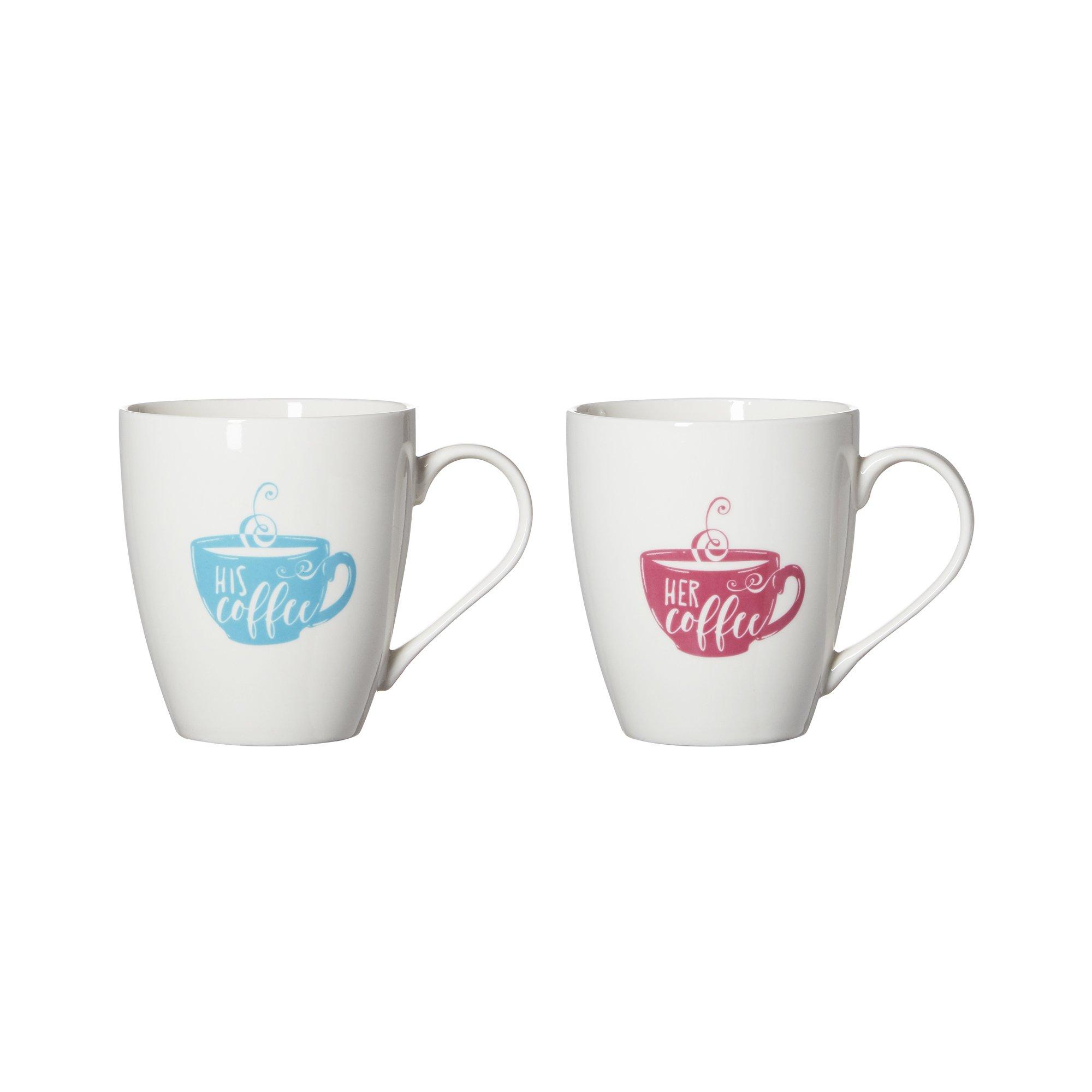 Pfaltzgraff''His Coffee/Her Coffee'' Everyday Mug (Set of 2), 18 oz, Assorted by Pfaltzgraff